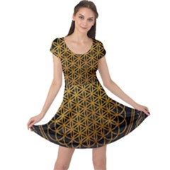 Bring Me The Horizon Cover Album Gold Cap Sleeve Dress by Onesevenart