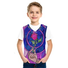 Enchanted Rose Stained Glass Kids  Sportswear by Onesevenart