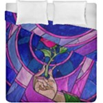 Enchanted Rose Stained Glass Duvet Cover Double Side (King Size)