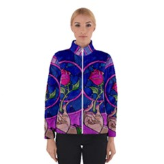 Enchanted Rose Stained Glass Winterwear by Onesevenart