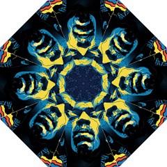 Gabz Jimi Hendrix Voodoo Child Poster Release From Dark Hall Mansion Hook Handle Umbrellas (large) by Onesevenart
