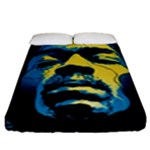 Gabz Jimi Hendrix Voodoo Child Poster Release From Dark Hall Mansion Fitted Sheet (King Size)
