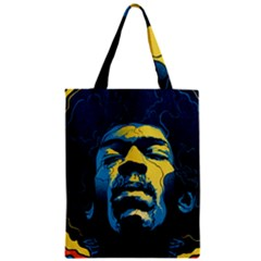 Gabz Jimi Hendrix Voodoo Child Poster Release From Dark Hall Mansion Zipper Classic Tote Bag by Onesevenart