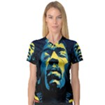 Gabz Jimi Hendrix Voodoo Child Poster Release From Dark Hall Mansion V-Neck Sport Mesh Tee