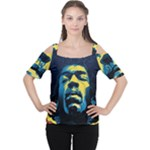 Gabz Jimi Hendrix Voodoo Child Poster Release From Dark Hall Mansion Cutout Shoulder Tee