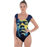 Gabz Jimi Hendrix Voodoo Child Poster Release From Dark Hall Mansion Short Sleeve Leotard