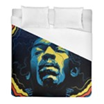 Gabz Jimi Hendrix Voodoo Child Poster Release From Dark Hall Mansion Duvet Cover (Full/ Double Size)