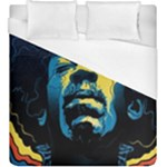 Gabz Jimi Hendrix Voodoo Child Poster Release From Dark Hall Mansion Duvet Cover (King Size)