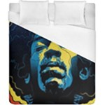 Gabz Jimi Hendrix Voodoo Child Poster Release From Dark Hall Mansion Duvet Cover (California King Size)