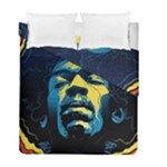 Gabz Jimi Hendrix Voodoo Child Poster Release From Dark Hall Mansion Duvet Cover Double Side (Full/ Double Size)