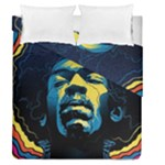 Gabz Jimi Hendrix Voodoo Child Poster Release From Dark Hall Mansion Duvet Cover Double Side (Queen Size)