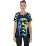 Gabz Jimi Hendrix Voodoo Child Poster Release From Dark Hall Mansion Cut Out Side Drop Tee