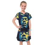 Gabz Jimi Hendrix Voodoo Child Poster Release From Dark Hall Mansion Kids  Drop Waist Dress