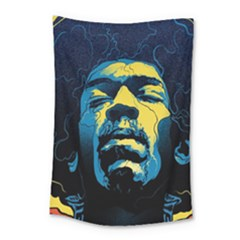 Gabz Jimi Hendrix Voodoo Child Poster Release From Dark Hall Mansion Small Tapestry by Onesevenart
