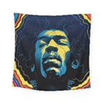 Gabz Jimi Hendrix Voodoo Child Poster Release From Dark Hall Mansion Square Tapestry (Small)