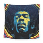 Gabz Jimi Hendrix Voodoo Child Poster Release From Dark Hall Mansion Square Tapestry (Large)