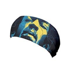 Gabz Jimi Hendrix Voodoo Child Poster Release From Dark Hall Mansion Yoga Headband by Onesevenart