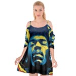 Gabz Jimi Hendrix Voodoo Child Poster Release From Dark Hall Mansion Cutout Spaghetti Strap Chiffon Dress
