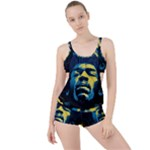 Gabz Jimi Hendrix Voodoo Child Poster Release From Dark Hall Mansion Boyleg Tankini Set