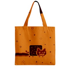 Nyan Cat Vintage Zipper Grocery Tote Bag by Onesevenart