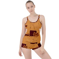 Nyan Cat Vintage Boyleg Tankini Set  by Onesevenart