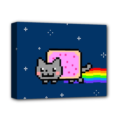 Nyan Cat Deluxe Canvas 14  X 11  by Onesevenart