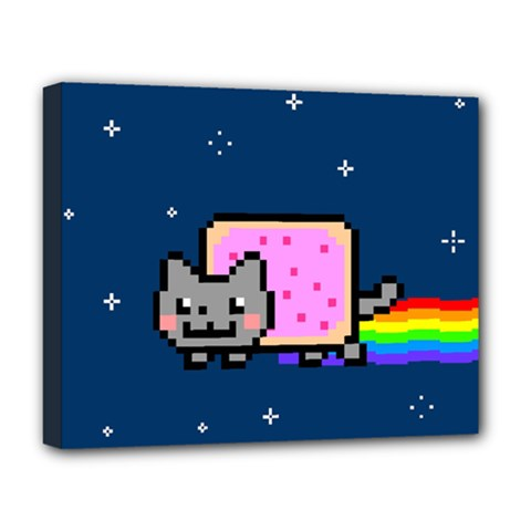 Nyan Cat Deluxe Canvas 20  X 16   by Onesevenart
