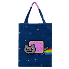 Nyan Cat Classic Tote Bag by Onesevenart