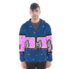 Nyan Cat Hooded Wind Breaker (men) by Onesevenart