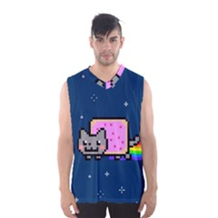 Nyan Cat Men s Basketball Tank Top by Onesevenart