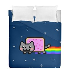 Nyan Cat Duvet Cover Double Side (full/ Double Size) by Onesevenart
