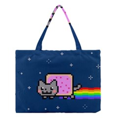 Nyan Cat Medium Tote Bag by Onesevenart