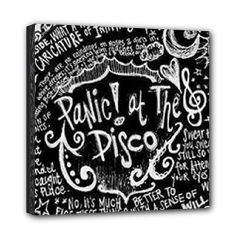 Panic ! At The Disco Lyric Quotes Mini Canvas 8  X 8  by Onesevenart
