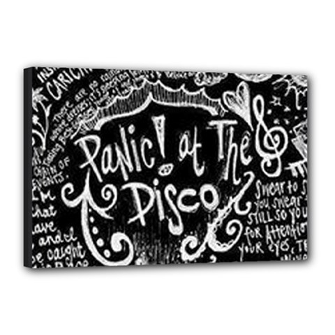 Panic ! At The Disco Lyric Quotes Canvas 18  X 12  by Onesevenart