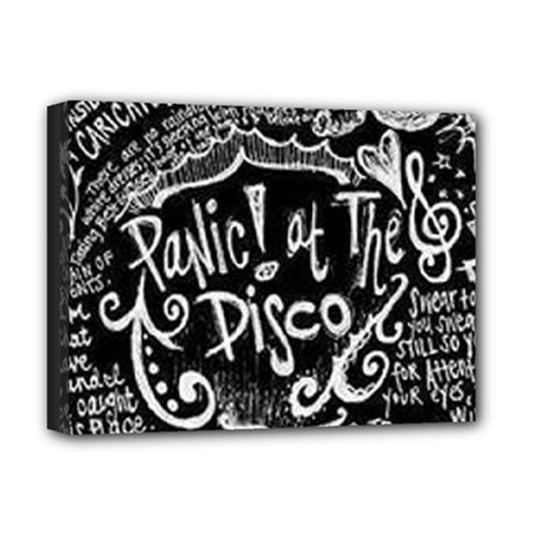 Panic ! At The Disco Lyric Quotes Deluxe Canvas 16  X 12   by Onesevenart