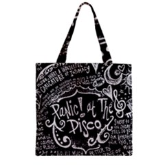 Panic ! At The Disco Lyric Quotes Zipper Grocery Tote Bag by Onesevenart
