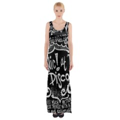 Panic ! At The Disco Lyric Quotes Maxi Thigh Split Dress by Onesevenart