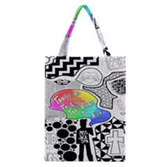 Panic ! At The Disco Classic Tote Bag by Onesevenart
