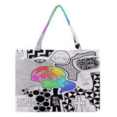 Panic ! At The Disco Medium Tote Bag by Onesevenart