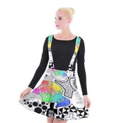 Panic ! At The Disco Suspender Skater Skirt by Onesevenart
