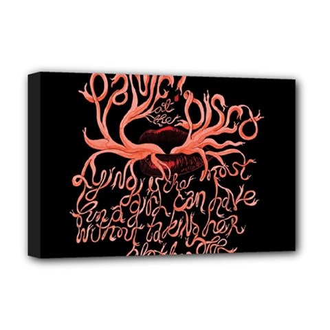 Panic At The Disco   Lying Is The Most Fun A Girl Have Without Taking Her Clothes Deluxe Canvas 18  X 12   by Onesevenart