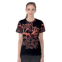 Panic At The Disco   Lying Is The Most Fun A Girl Have Without Taking Her Clothes Women s Cotton Tee by Onesevenart