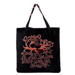 Panic At The Disco   Lying Is The Most Fun A Girl Have Without Taking Her Clothes Grocery Tote Bag by Onesevenart