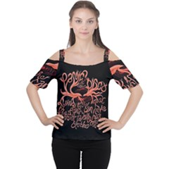 Panic At The Disco   Lying Is The Most Fun A Girl Have Without Taking Her Clothes Cutout Shoulder Tee by Onesevenart