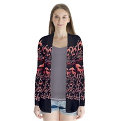Panic At The Disco   Lying Is The Most Fun A Girl Have Without Taking Her Clothes Drape Collar Cardigan by Onesevenart