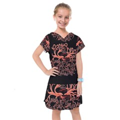 Panic At The Disco   Lying Is The Most Fun A Girl Have Without Taking Her Clothes Kids  Drop Waist Dress by Onesevenart