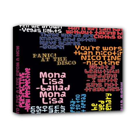 Panic At The Disco Northern Downpour Lyrics Metrolyrics Deluxe Canvas 14  X 11  by Onesevenart