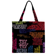 Panic At The Disco Northern Downpour Lyrics Metrolyrics Zipper Grocery Tote Bag by Onesevenart