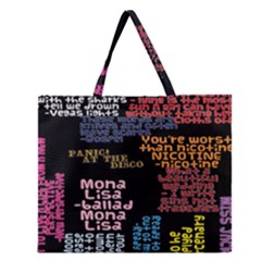 Panic At The Disco Northern Downpour Lyrics Metrolyrics Zipper Large Tote Bag by Onesevenart