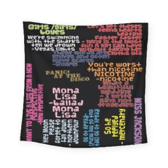Panic At The Disco Northern Downpour Lyrics Metrolyrics Square Tapestry (small) by Onesevenart